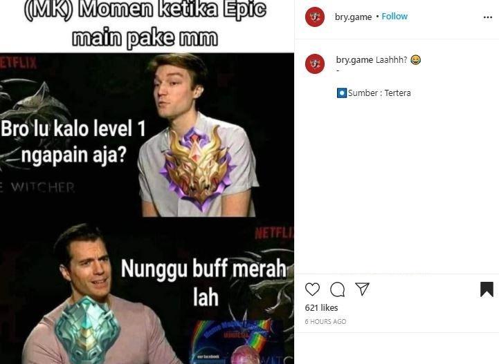 Meme Mobile Legends. (Instagram/ bry.game)