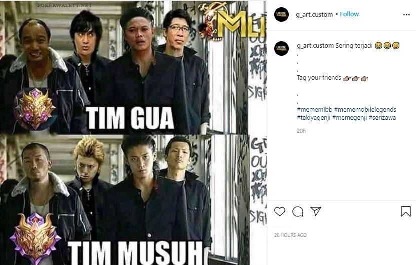 Meme Mobile Legends. (Instagram/ g_art.custom)