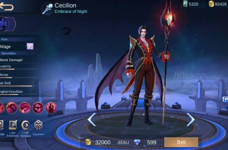 Cecilion Mobile Legends. (HiTekno.com)