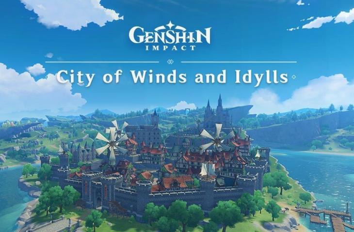 Kota Mondstadt di Genshin Impact. (miHoYo)