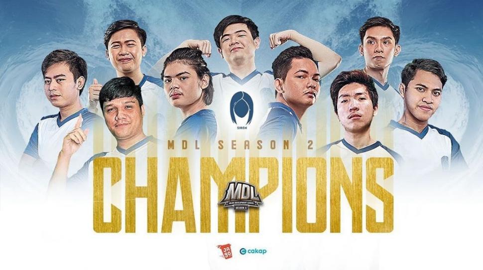 Siren eSports juarai MDL Indonesia Season 2. (instagram/sirenesports)
