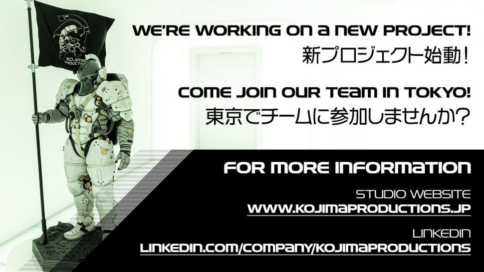 Kojima Productions buka lowongan pekerjaan. (Kojima Productions)
