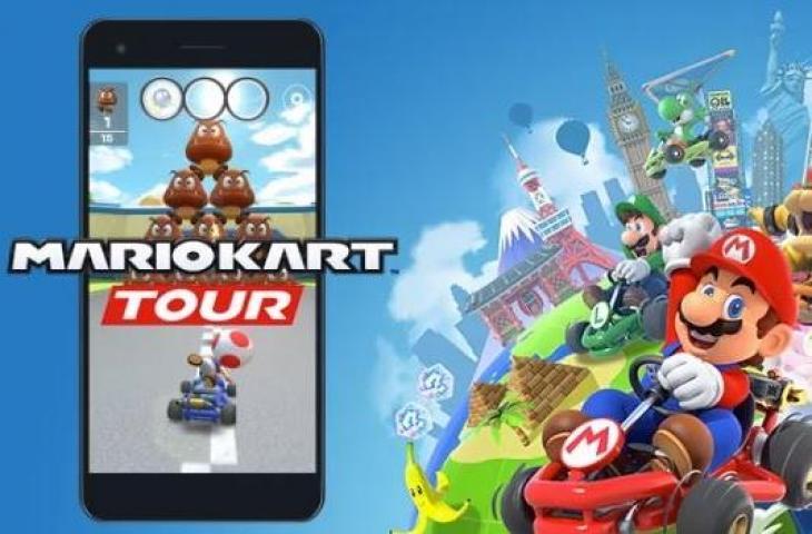 Ilustrasi game Mario Kart Tour. (Nintendo)