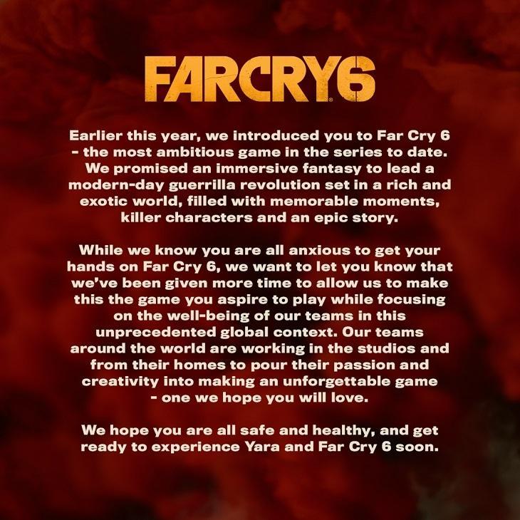 Pengumuman Far Cry 6 ditunda. (Ubisoft)