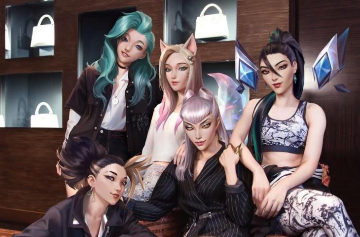 K/DA, idol virtual League of Legends. (League of Legends)