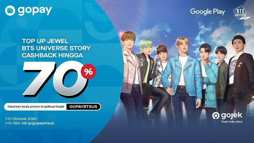Promo menarik BTS Universe Story dari GoPay. (Netmarble)
