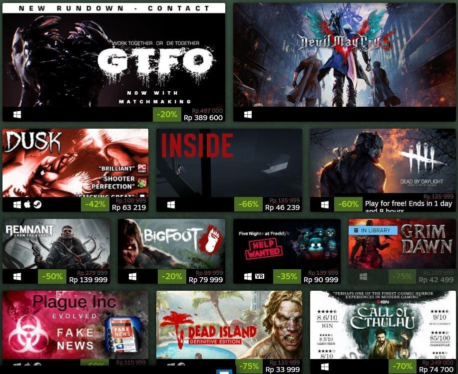 Diskon game horor di Steam Halloween Sale 2020. (Steam)