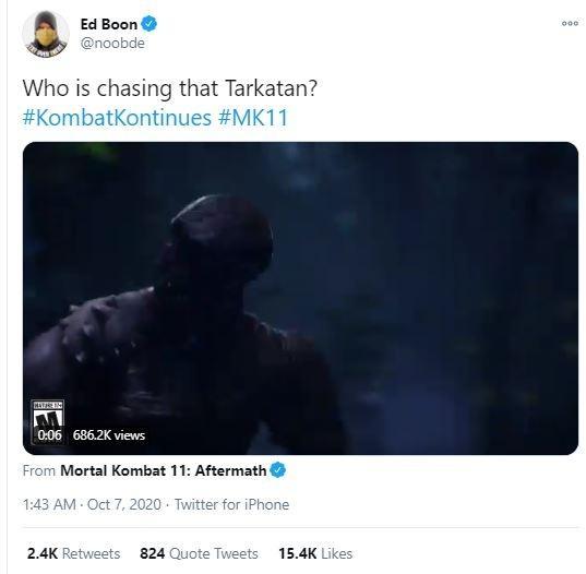 Teaser yang diduga menampakkan karakter Rambo ke dalam Mortal Kombat 11. (Twitter/ noobde)