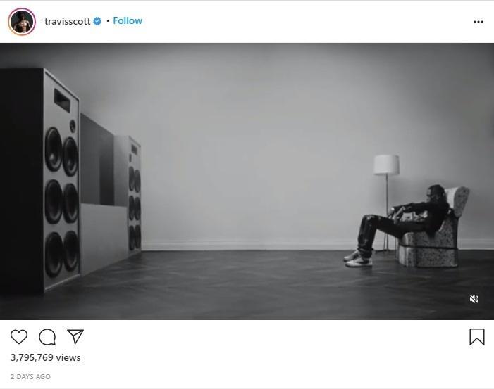 Travis Scott kerja sama bareng Sony. (instagram/travisscott)