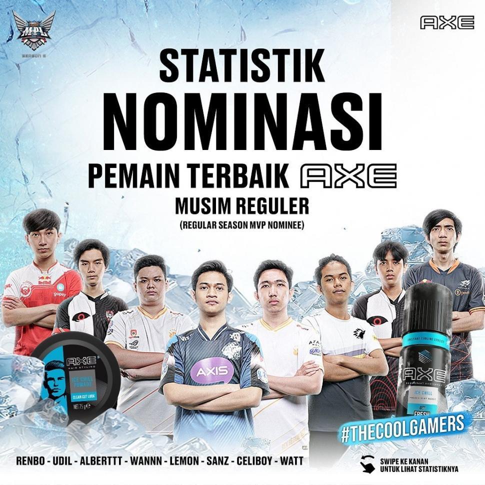 Delapan pemain masuk nominasi MVP musim reguler MPL Indonesia Season 6.(Instagram/ mpl.id.official)