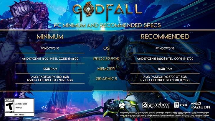 Spesifikasi PC Godfall. (Counterplay Games)