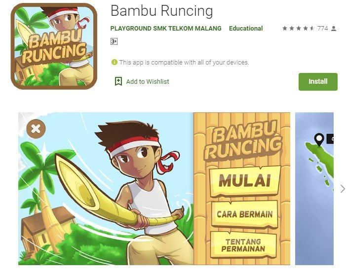 Ilustrasi game Bambu Runcing. (Play Store)