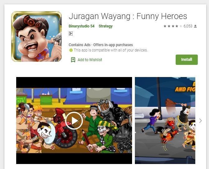 Juragan Wayang. (Play Store)