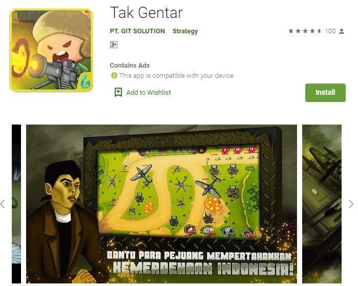Game Tak Gentar. (Play Store)