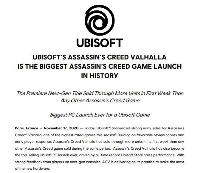 Rilis resmi dari Ubisoft mengenai Assassin's Creed Valhalla. (Ubisoft via Globenewswire)