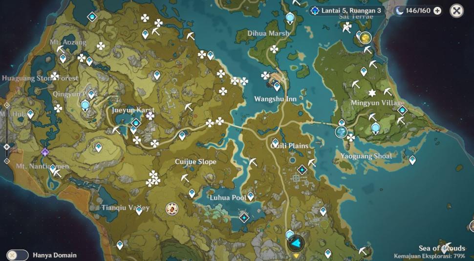 Peta Genshin Impact. (HiTekno.com)