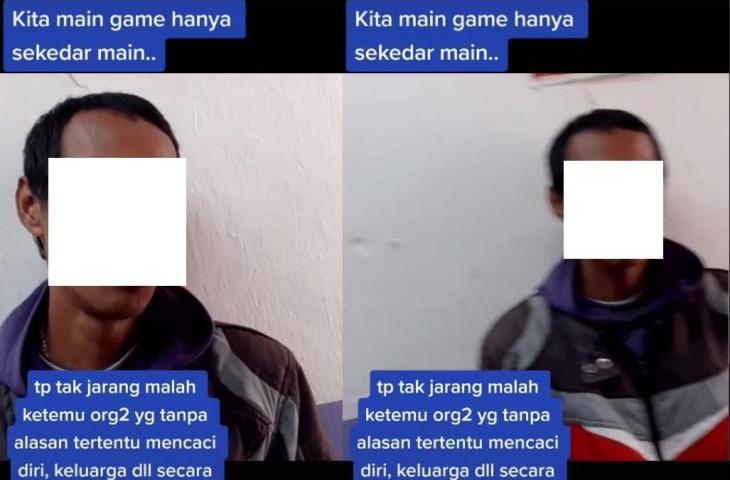 Heboh video yang mengklaim labrak player toxic saat main PUBG. (TikTok/ @mafia_hijrah)