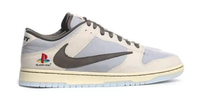 Sepatu Nike dengan tema PlayStation. (Travis Scott Shop)