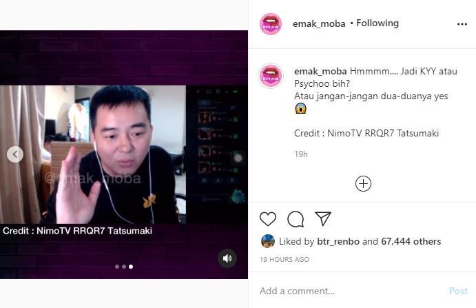 CEO RRQ bicara mengenai tank baru RRQ. (instagram/emak_moba)