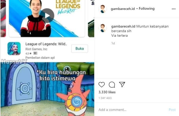 Jess No Limit jadi brand ambassador League of Legends. (instagram/gambarreceh.id)