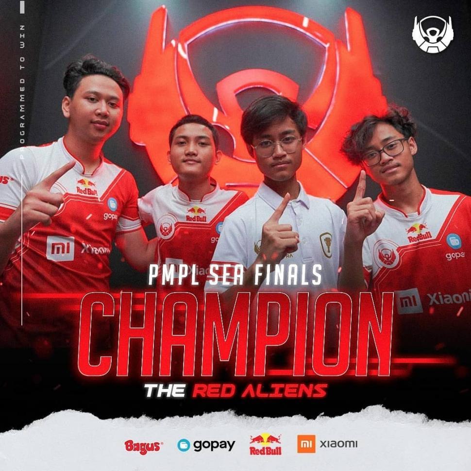 Bigetron Red Aliens juarai PMPL SEA Finals Season 2. (instagram/bigetronesports)
