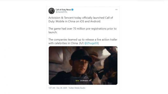 Call of Duty hadir di China. [Twitter]