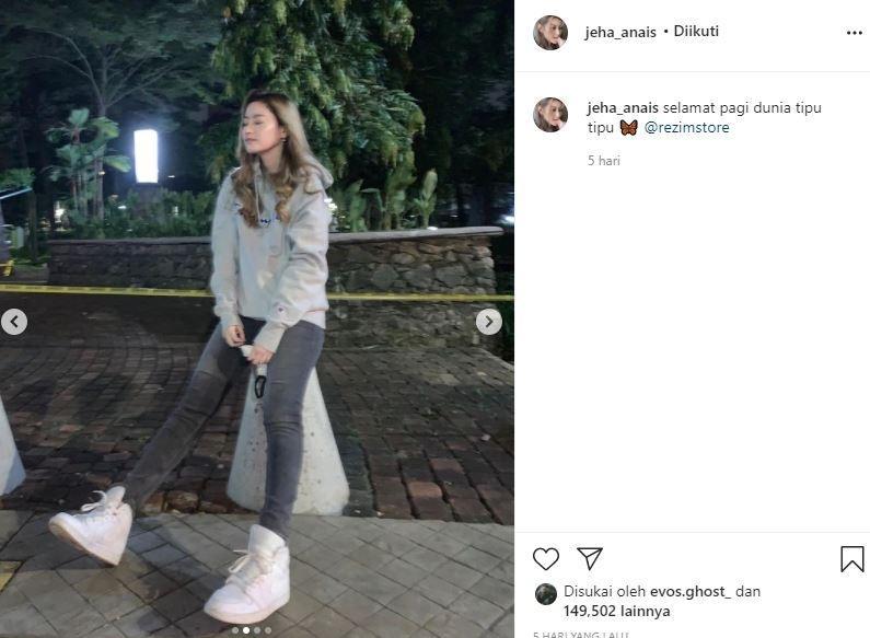 Kolom komentari di postingan terbaru Jeha telah ditutup. (Instagram/ @jeha_anais)