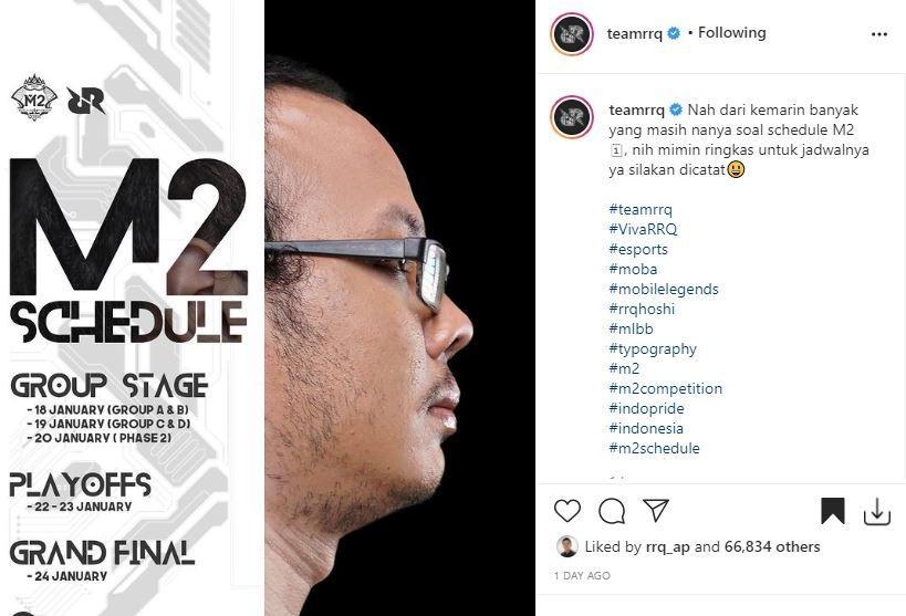Jadwal M2 World Championship. (Instagram/ teamrrq)