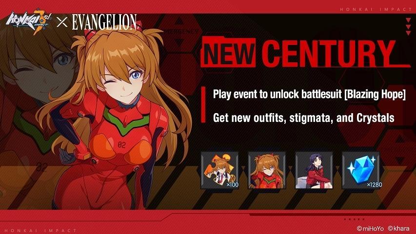 Kolaborasi Honkai Impact 3 dan Neon Genesis Evangelion. (miHoYo)