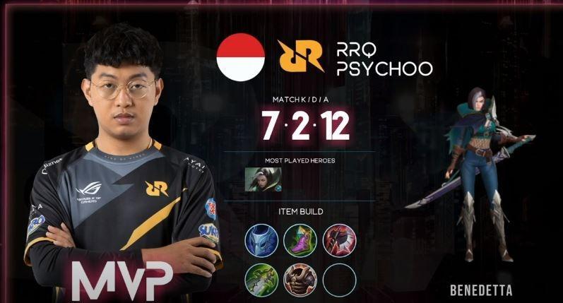 RRQ Psychoo jadi MVP di game pertama saat melawan DreamMax. (YouTube/ Mobile Legends Bang Bang)