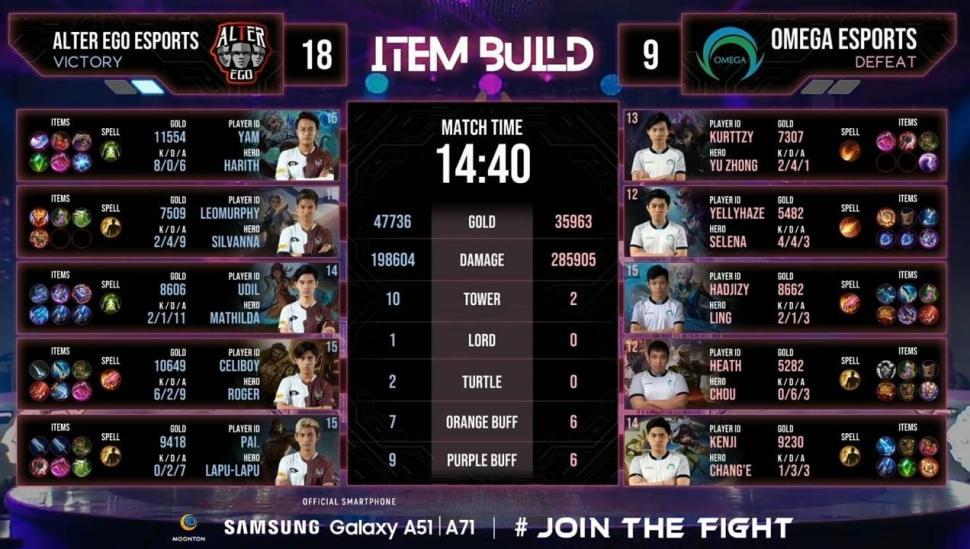 Alter Ego vs Omega Esports di Playoff M2. (youtube/Mobile Legends Indonesia)