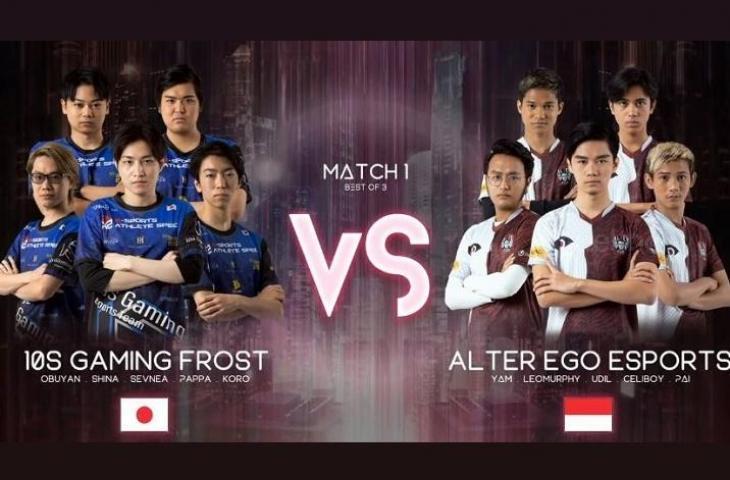 Alter Ego vs 10S Gaming Frost. (YouTube/ Mobile Legends Bang Bang)
