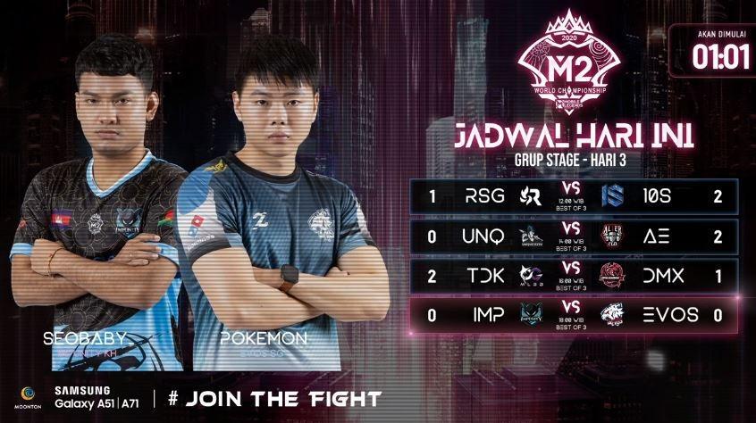 Hasil pertandingan Group Stage M2 World Championship. (YouTube/ MPL Indonesia)