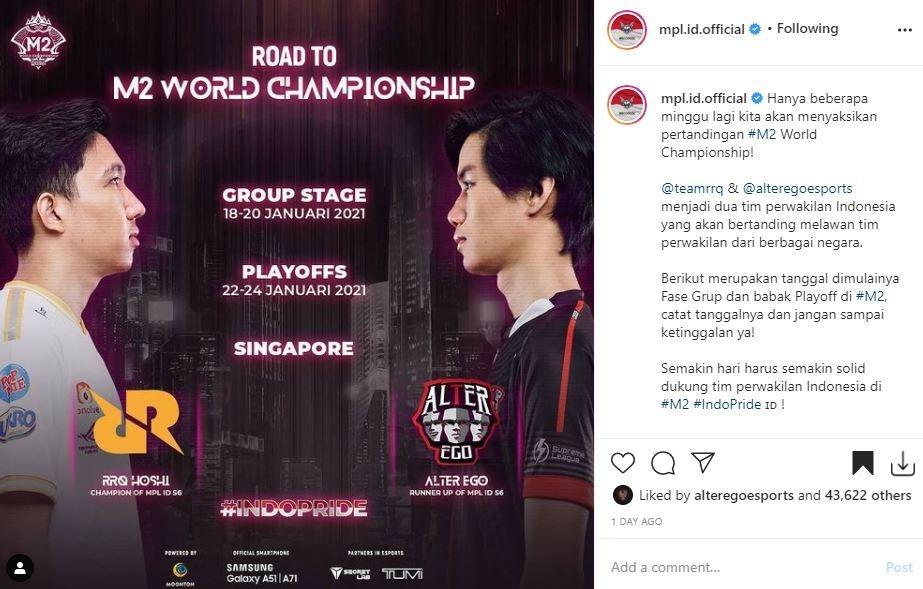 Jadwal M2 World Championship. (Instagram/ mpl.id.official)