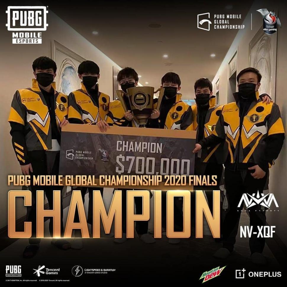 Nova Esports juarai PMGC 2020. (instagram/esportspubgmobile)