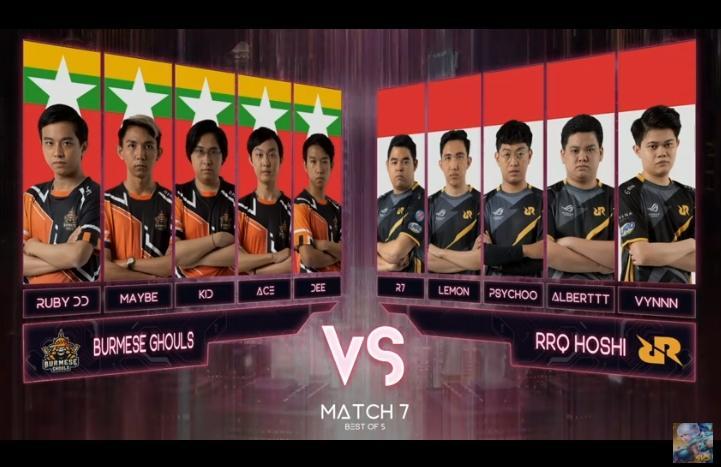RRQ Hoshi vs Burmese Ghouls di grand final M2. (youtube/MLBB Indonesia)