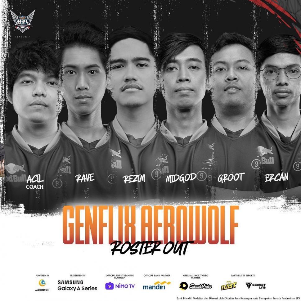 Aerowolf melepas sebagian besar roster-nya, termasuk Rezim alias Kaesang. (Instagram/ mpl.id.official)