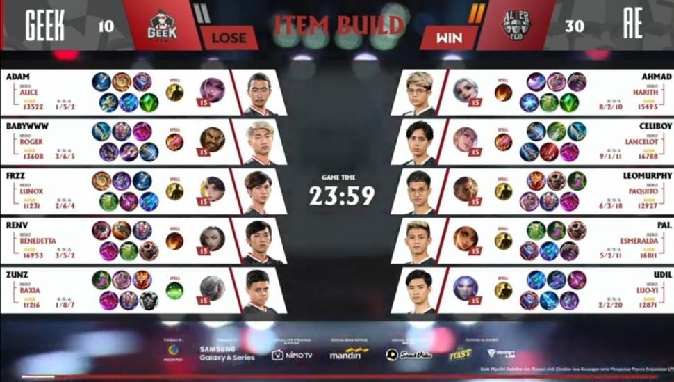 Game kedua Alter Ego vs Geek Fam. (youtube/MPL Indonesia)