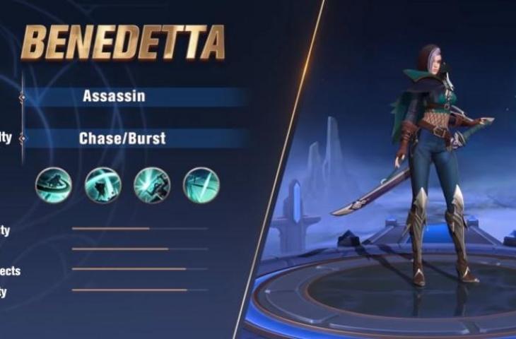 Benedetta, hero META yang kena Nerf. (YouTube/ Mobile Legends Bang Bang)