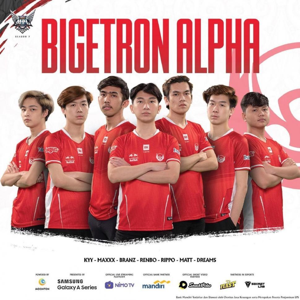 Roster Bigetron Alpha MPL Season 7. (Instagram/ mpl.id.official)