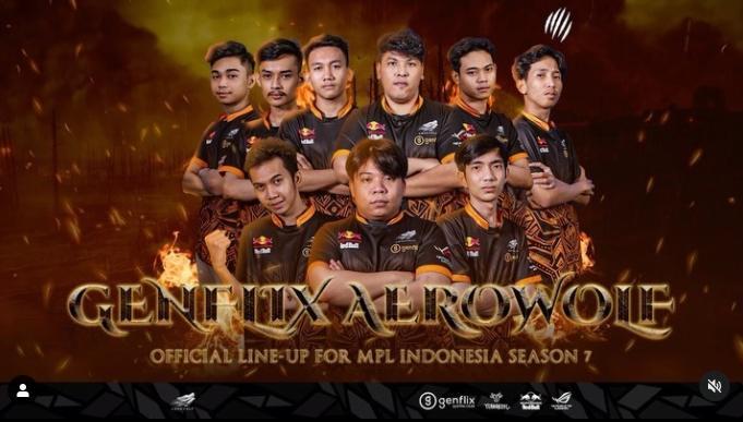 Roster Genflix Aerowolf untuk MPL Indonesia Season 7. (instagram/aerowolfproteam)