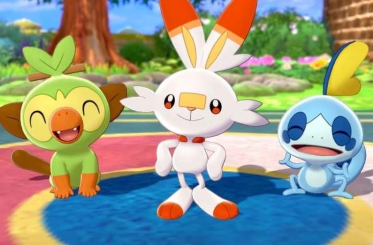 Game Pokemon Sword and Shield. (Pokemon)