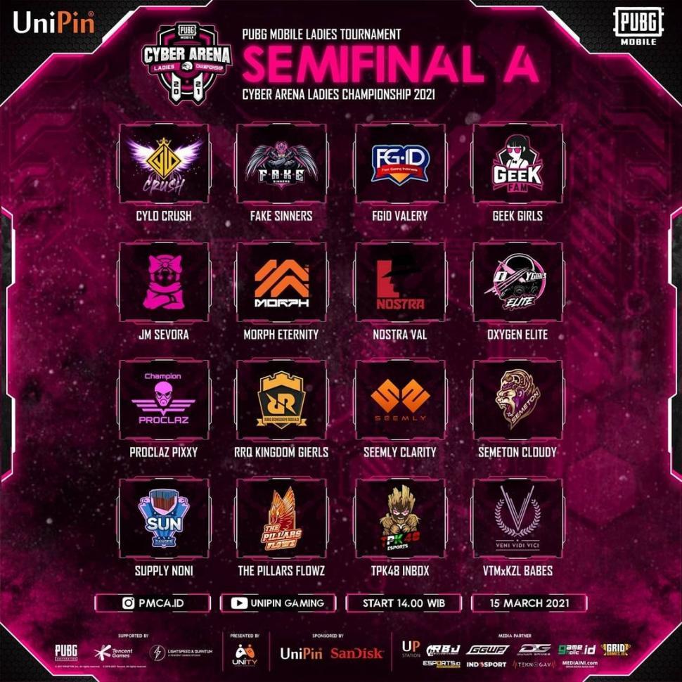 PMCA 2021, Semifinal A. (PUBG Mobile Cyber Arena)