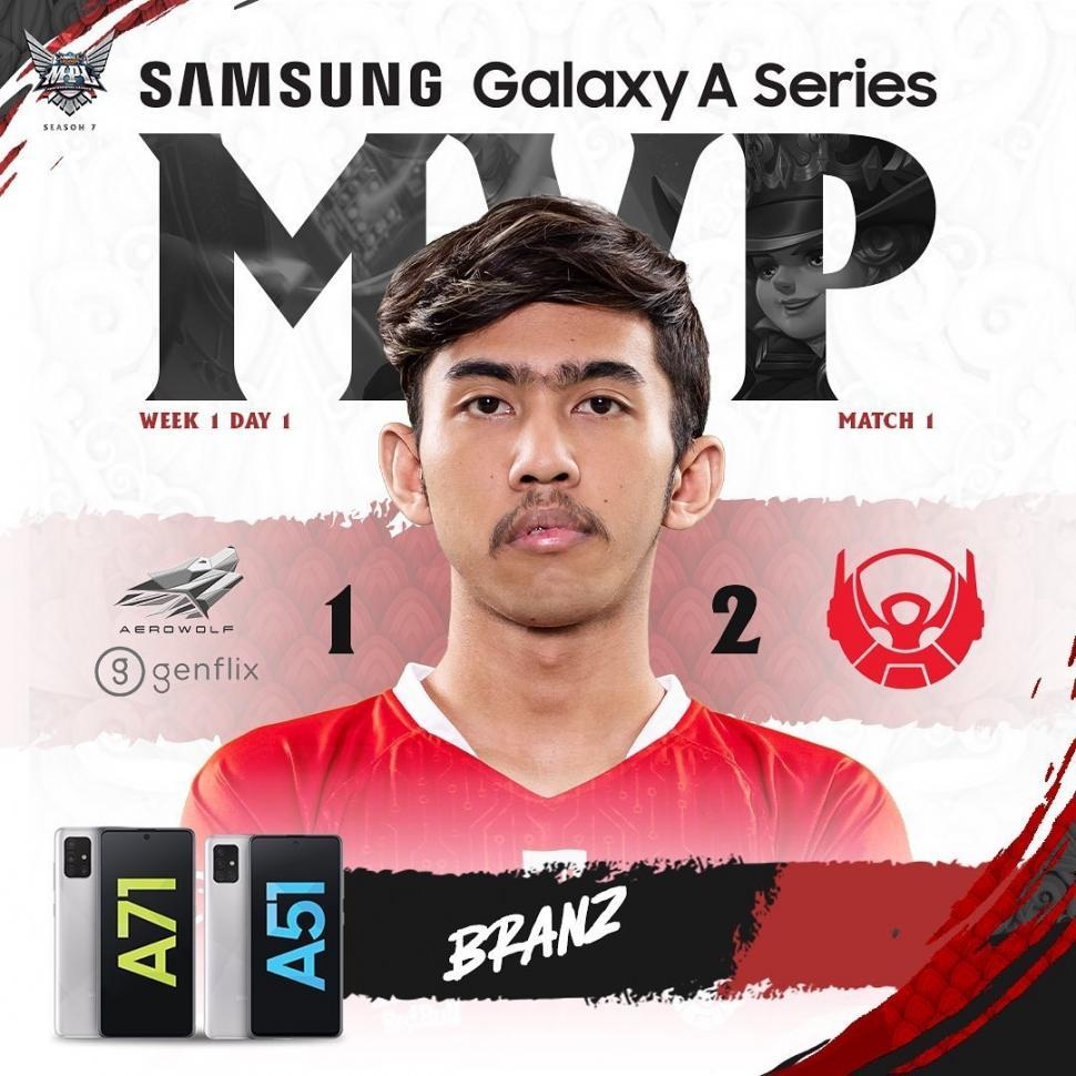 Bigetron Alpha Branz jadi MVP MPL Season 7 Week 1. (instagram/MPL Indonesia)