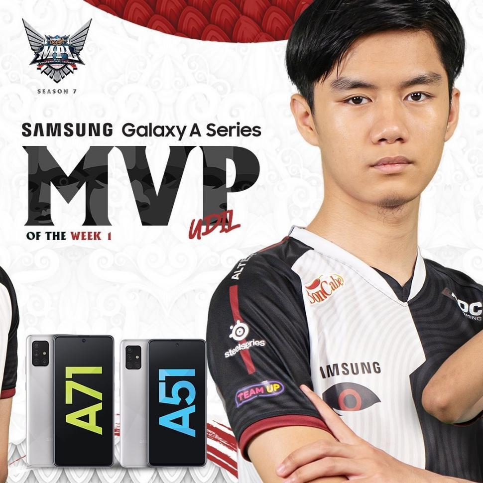 Udil terpilih menjadi MVP of the Week di minggu pertama MPL Season 7. (Instagram/ mpl.id.official)