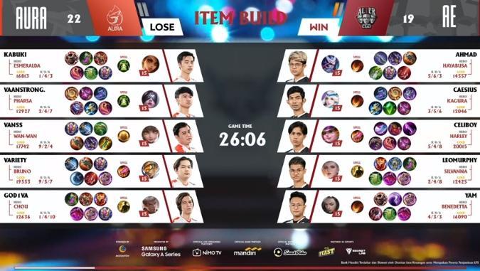 Game kedua Aura Fire vs Alter Ego. (youtube/MPL Indonesia)