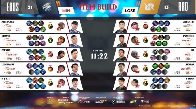 Game kedua RRQ Hoshi vs EVOS Legends. (youtube/MPL Indonesia)