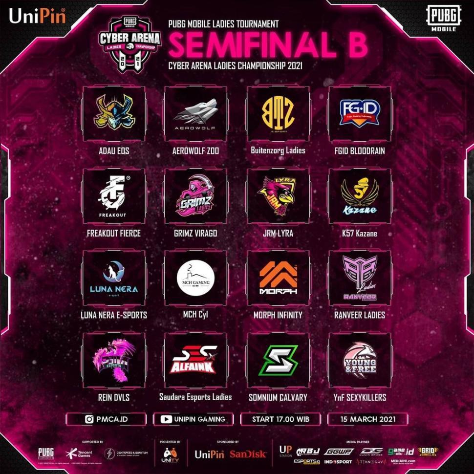 PMCA 2021, Semifinal B. (PUBG Mobile Cyber Arena)