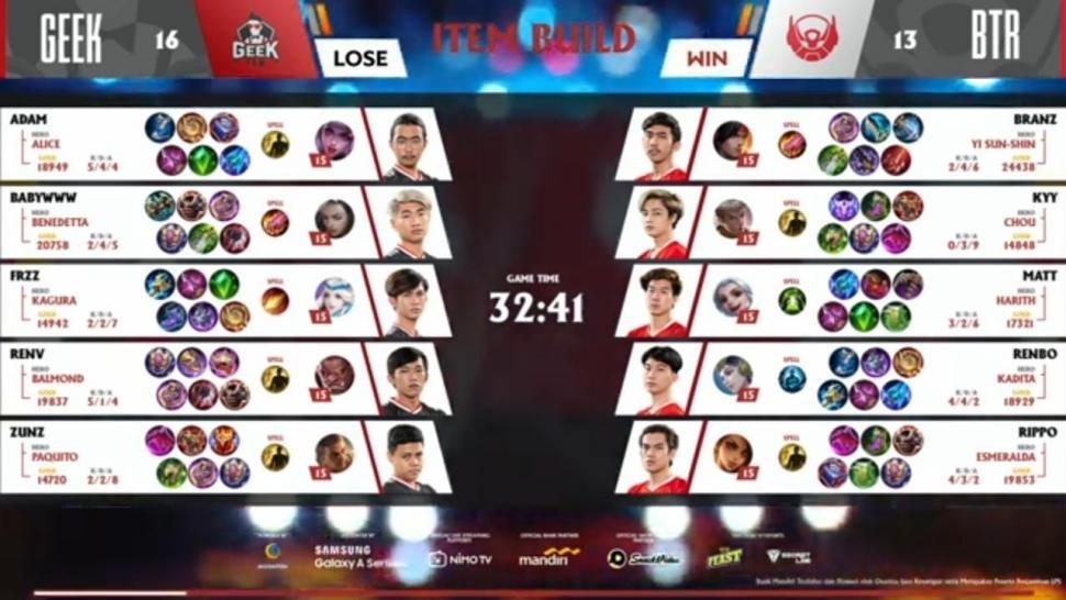 Game kedua Bigetron Alpha vs Geek Fam. (youtube/MPL Indonesia)