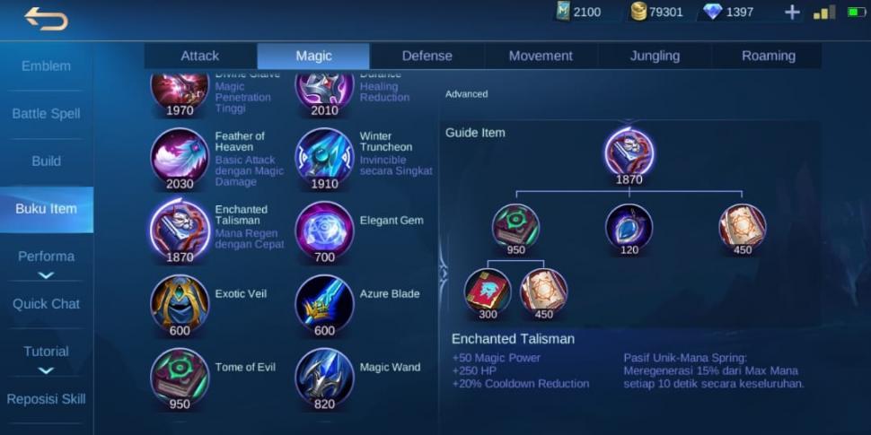 Item Enchanted Talisman Mobile Legends. (HiTekno)